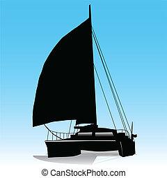 catamaran, voile
