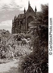 cathédrale, arundel, jardin