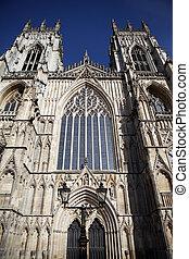 cathédrale, minster, york, église