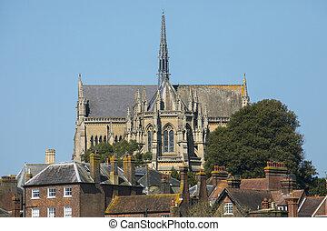 cathédrale, sussex, arundel, ouest