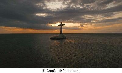 catholique, sea., croix