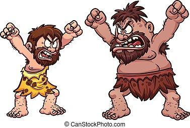 cavemen, combat