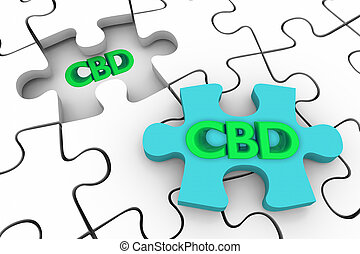 cbd, puzzle, marijuana, illustration, solution, cannabis, cannabidiol, chanvre, morceau, 3d