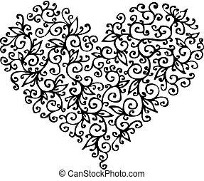 cc, coeur, romantique, vignette
