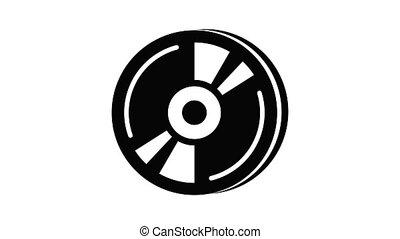 cd, animation, icône