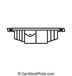 ceinture outil, vecteur, stockage, conception, symbole, web., symbole., graphique, toolbag