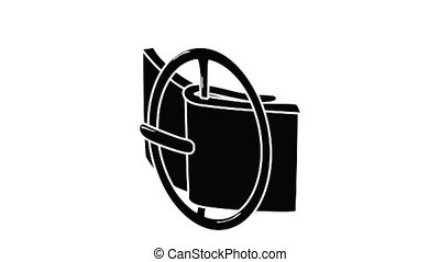 ceinture, podium, icône, animation, mode