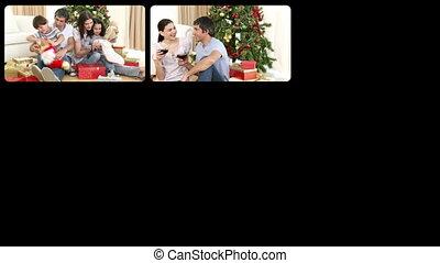 cele, familles heureuses, animation, 3d