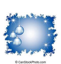 celebratory, année, sphères, décoré, nouveau, verre, cadre