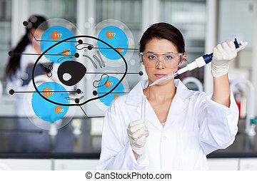 cellule, fonctionnement, chimiste, sérieux
