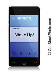 cellule, message, réveiller
