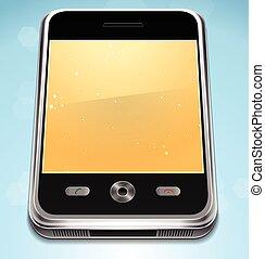 cellule, réaliste, vecteur, téléphone