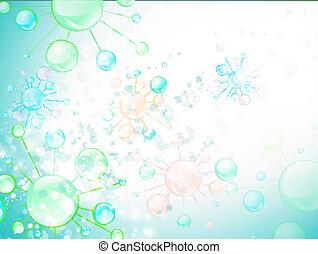 cellule, résumé, microbiologie, fond