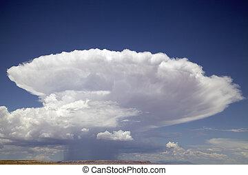 cellule, unique, cumulonimbus, nuage