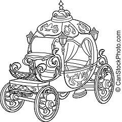 cendrillon, conte, fée, citrouille, voiture