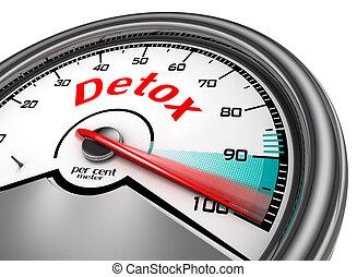 cent, niveau, par, indiquer, cent, conceptuel, mètre, detox