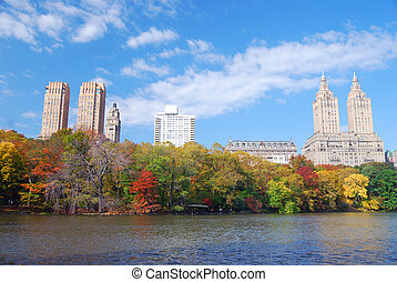 central, manhattan, ville parc, york, nouveau
