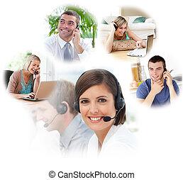 centre, appeler, agents, service clientèle