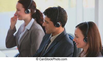 centre, appeler, businessteam