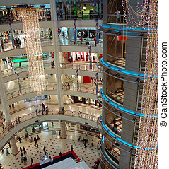 centre commercial, achats, 3