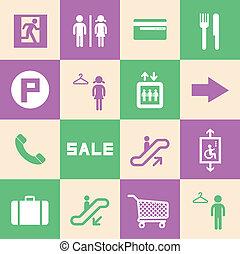 centre commercial, achats