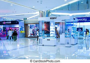 centre commercial, shanghai, achats