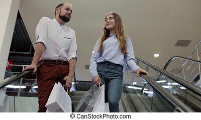 centre commercial, themecouple, escalator