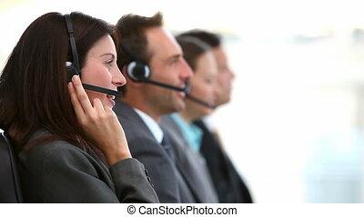 centre, fonctionnement, sourire, appeler, agents, service clientèle