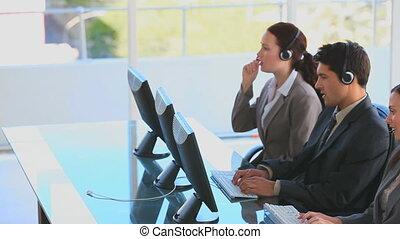 centre, gens, appeler, business