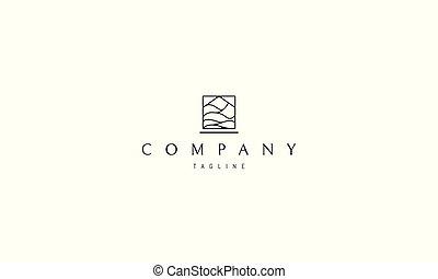 centre, maison, résumé, vagues, vecteur, depicted., logo, image