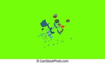 centrifuge, coulage, icône, animation, metalwork