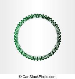 cercle, arrière-plan vert, halftones