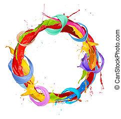 cercle, coloré