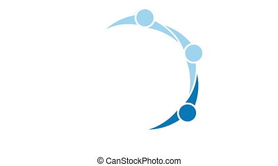 cercle, concept, direction, gens