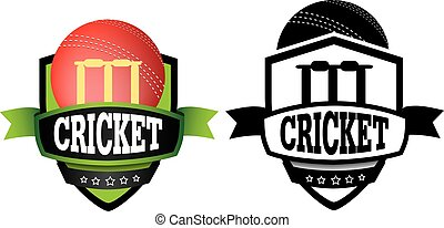 cercle cricket, conception, logo, grahic, ou