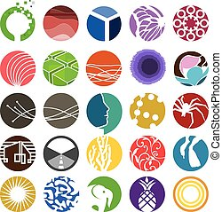 cercle, ensemble, 01, icône