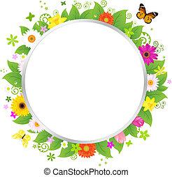 cercle, fleurs