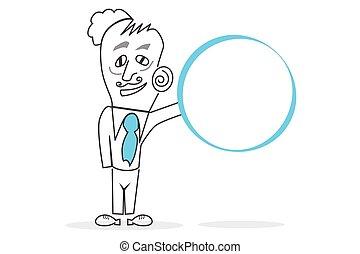 cercle, humain, &