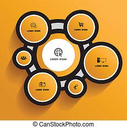 cercle, icônes