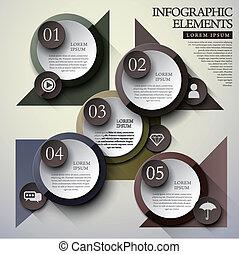 cercle, infographic, éléments, étiquette