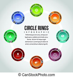 cercle, infographic, anneaux