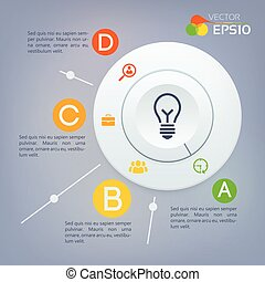 cercle, infographic, diagramme, business