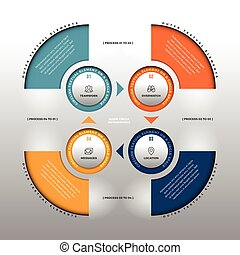 cercle, infographic, lisse