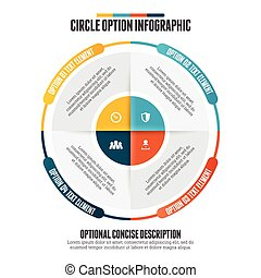 cercle, infographic, option