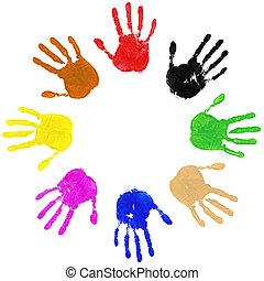 cercle, mains