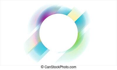 cercle, mouvement, géométrique, résumé, holographic, coloré, fond