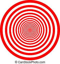 cercle, rouges, illustration