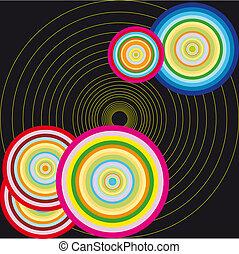 cercle, vecteur, illustration