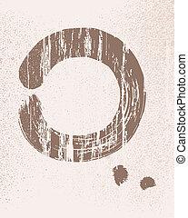 cercle, zen, illustration