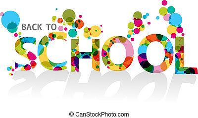 cercles, école, eps10, coloré, dos, fond, file.